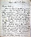 AUTOGRAPH LETTER SIGNED, to MRS. RICH, from Esher, Nov. 11th. 1830 :