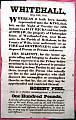 ARSON BROADSIDE  -  WHITEHALL, May 29th, 1829.